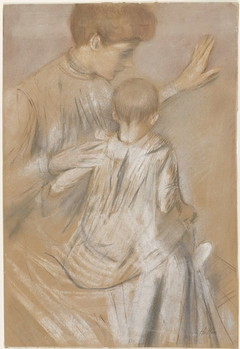 Moeder met kind op schoot