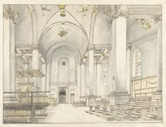 Nave of the Nieuwe Kerk in Haarlem, from East to West
