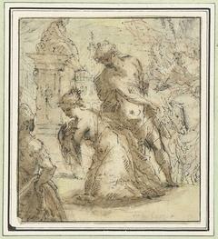 Onthoofding van een heilige (H. Catharina?)