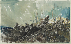 Over the Top, Neuville-Vitasse (watercolour)