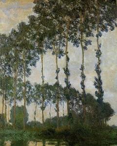Peupliers près de Giverny, temps couvert