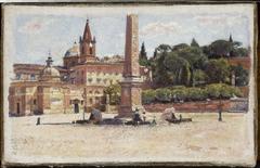 Piazza del Popolo in Rome, sketch