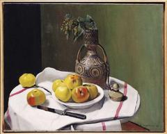 Pommes et vase marocain