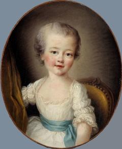 Portrait de petite fille en robe blanche, dite Alexandrine Lenormant d'Etiolles