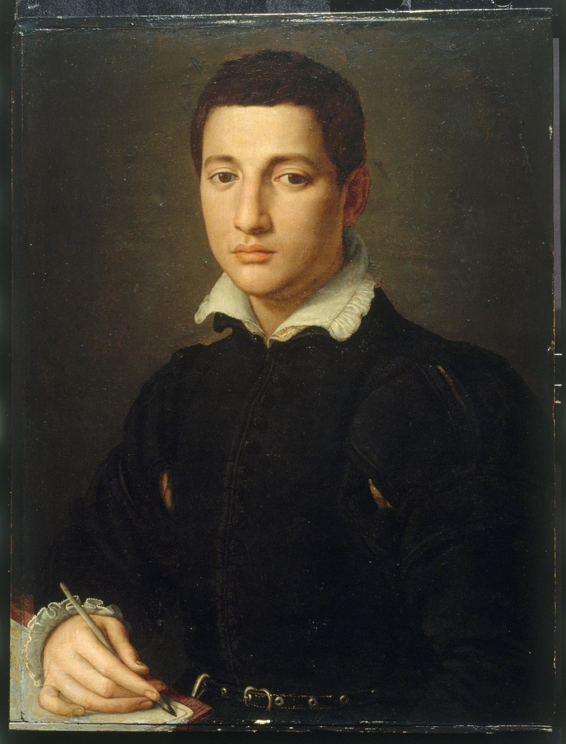 Portrait of a Young Man Writing