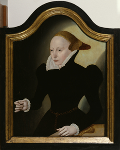 Portrait of a Young Woman with a Pink