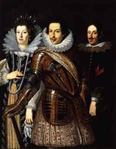 Portrait of Cosimo II de' Medici with Wife Maria Maddalena of Austria and their Son Ferdinando II de' Medici