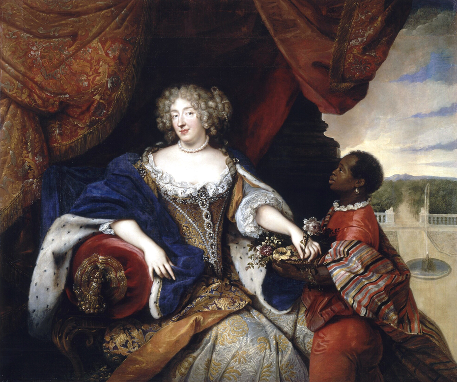Portrait of Elizabeth Charlotte of the Palatine with her Slave