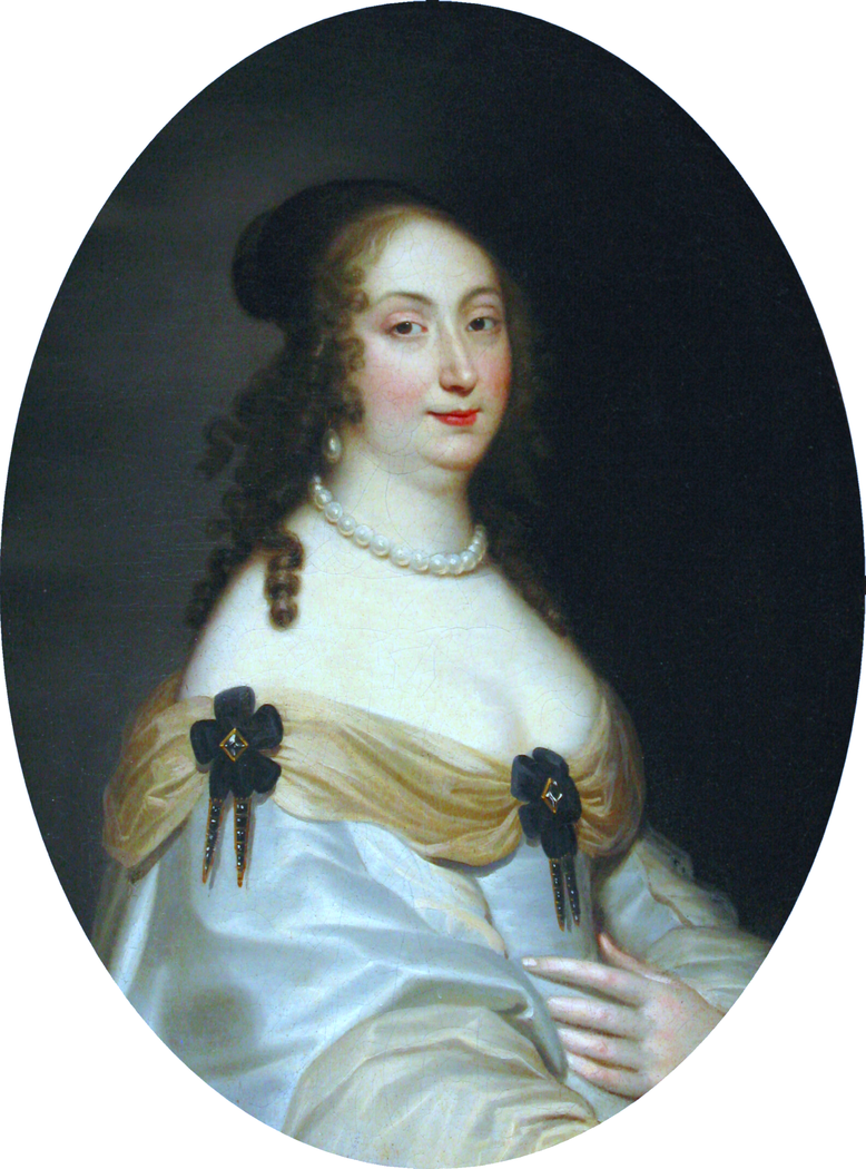 Portrait of Marie Louise Gonzaga (detail).