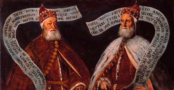 Portrait of Pietro Lando and Francesco Donato