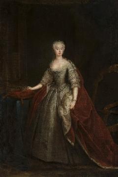 Portrait of Princess Augusta of Saxe-Gotha.