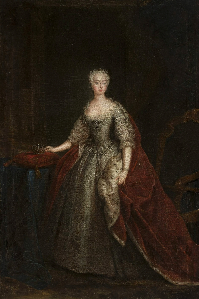 Portrait of Princess Augusta of Saxe-Gotha.