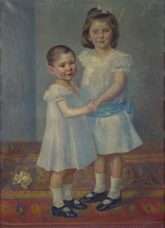 Porträt zweier Kinder