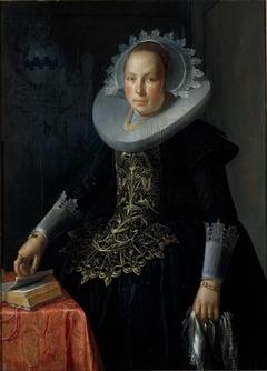 Portret van Antonetta Wtewael (1603-1655), echtgenote van Johan Pater