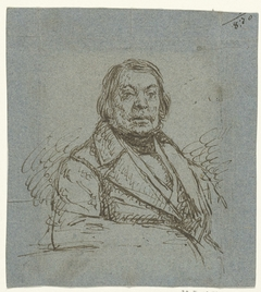 Portret van een oudere heer, zittend, naar rechts