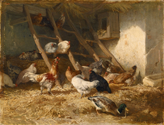 Poultry in a shed, 1828
