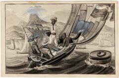 Promenade sur l'Eau dans la Baie de Rio -Janeiro. Un esclave nègre du Congo, racontant son histoire Tènue esclave nègre fraichement arrivé de l'Affrique
