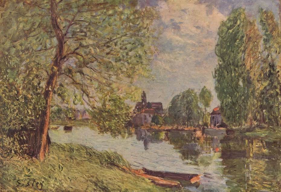 River Landscape in Moret-sur-Loing
