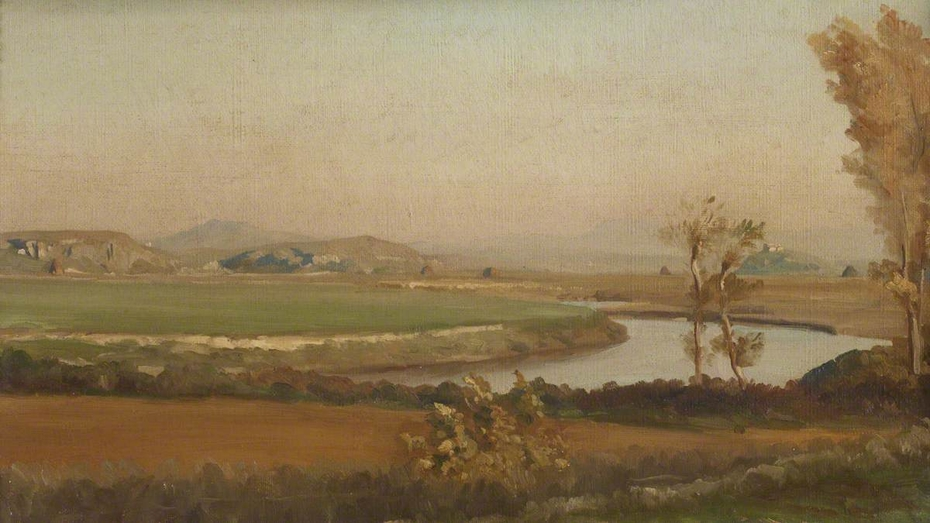 River Landscape, probably in Italy
