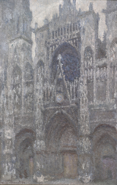 Rouen Cathedral, Portal, Cloudy Weather