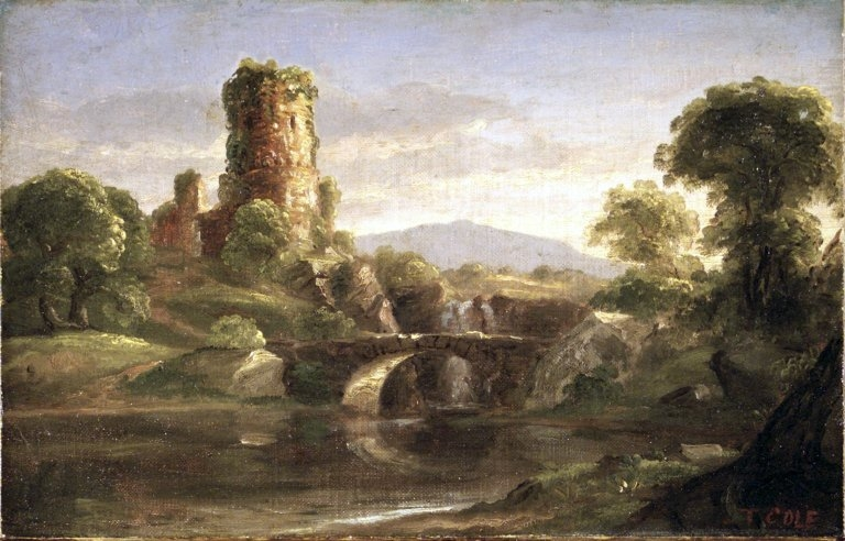 Ruined Castle and River