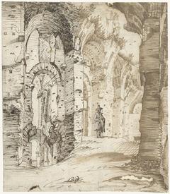 Ruïnes van de fundamenten van het Paleis van Septimius Severus, Rome
