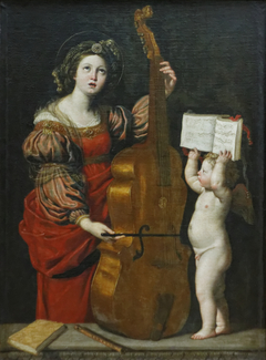 Saint Cecilia Playing the Viol