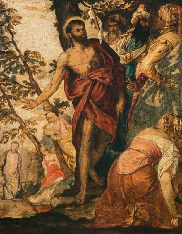 Saint John the Baptist Preaching (after Veronese)