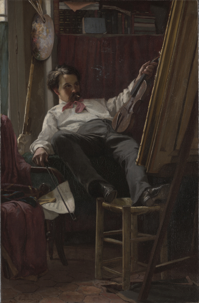 Self-Portrait of the Artist in HisStudio
