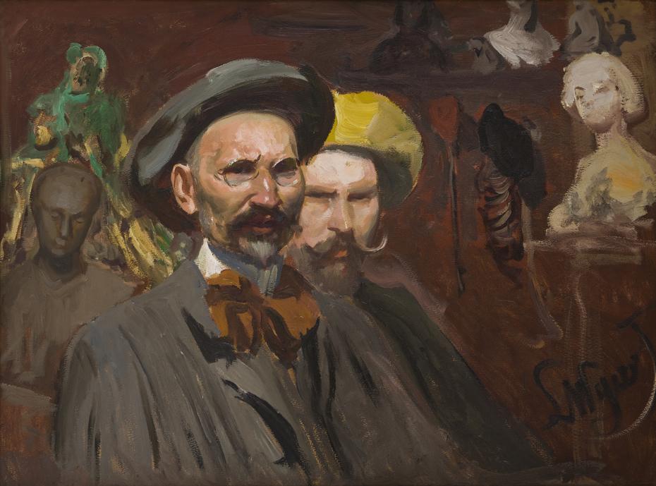 Self-Portrait with Konstanty Laszczka