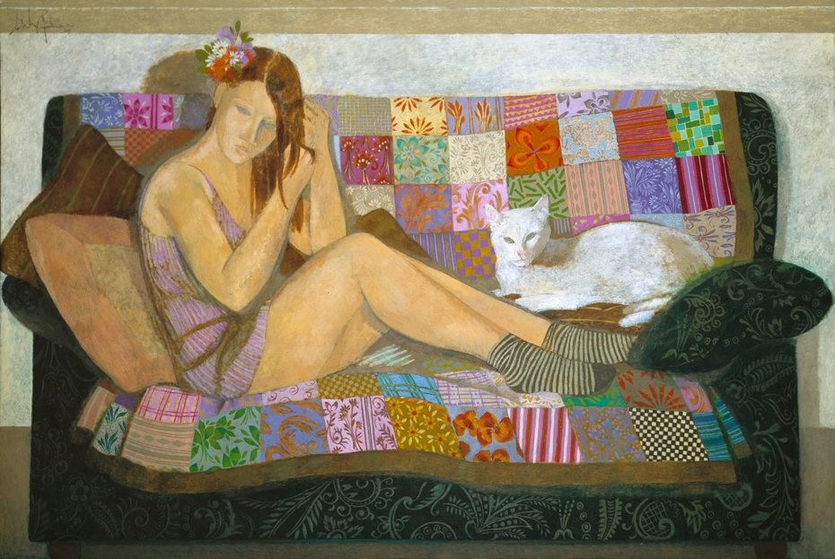 Sentada con mi gato / Sitting with my cat