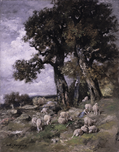 Sheep in the Shelter of the Oaks