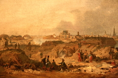 Sight of the citadelle of Antwerp after the bombardement of 1832