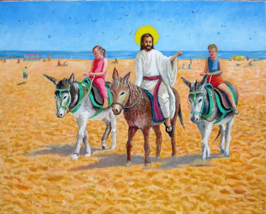 'Skeggy Donkeys' or 'The entry of Christ into Skegness'
