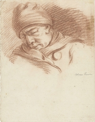 Slapende man met muts (zelfportret?)