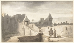 Stadsmuur bij de Erdre te Nantes