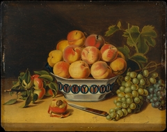 Still Life: Peaches and Grapes
