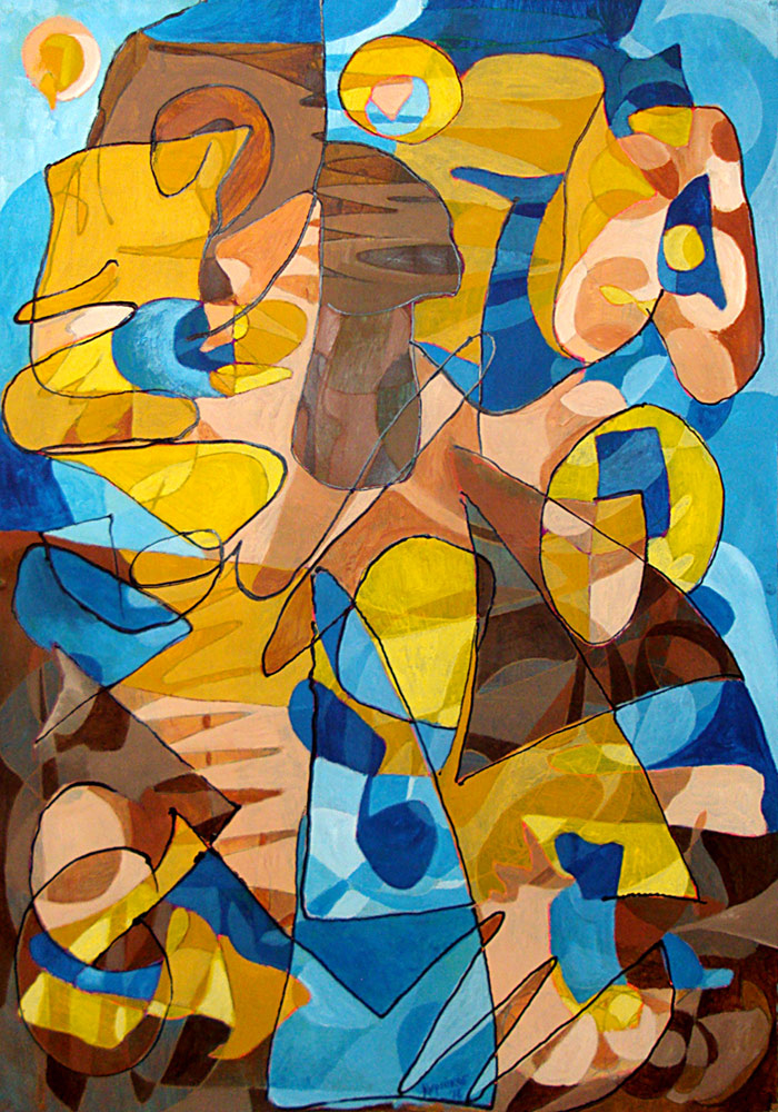 Study in Yellow and Blue