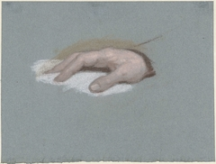 Study of a Man's Hand, resting on a White Fabric