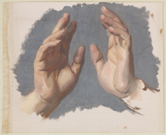 """Study of Both Hands of the Bishop for the Painting """"The Oath of Queen Jadwiga"""""""