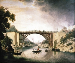 The Cast Iron Bridge near Coalbrookdale