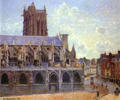 The Church of Saint-Jacques in Dieppe, Sunlight, Morning