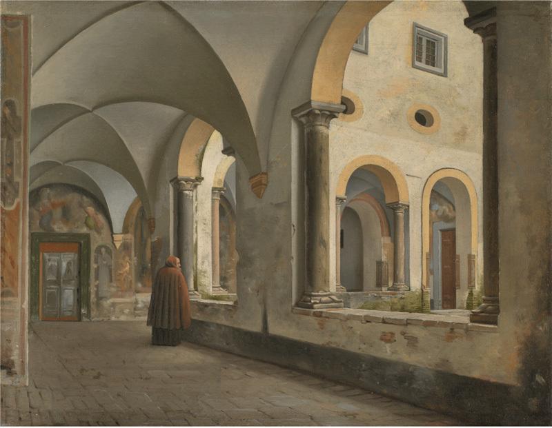 The Cloisters of the Franciscan Monastery Santa Maria in Aracoeli in Rome