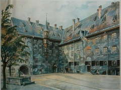 The Courtyard of the Old Residency in Munich (Der Alte Hof in München)