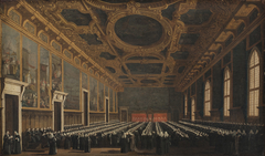 The Doge and Grand Council in Sala del Maggior Consiglio