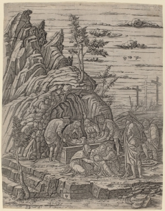 The Entombment with Three Birds