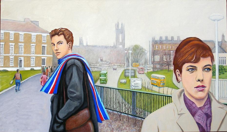 'The glance' (2013), oil on linen, 76 x 122 cm.