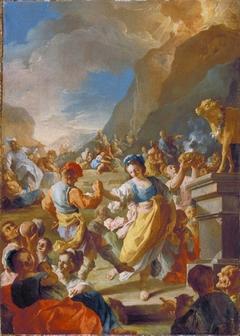 The Israelites Worshiping The Golden Calf