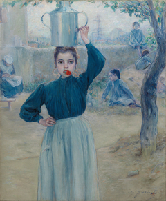 The Little Village Girl with Red Carnation