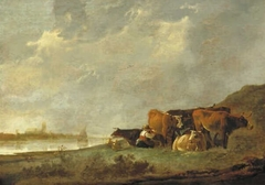 The Milkmaid Near the River Bank of the Oude Maas